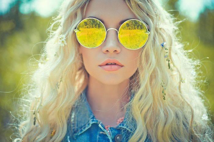 Модные очки - круглая форма