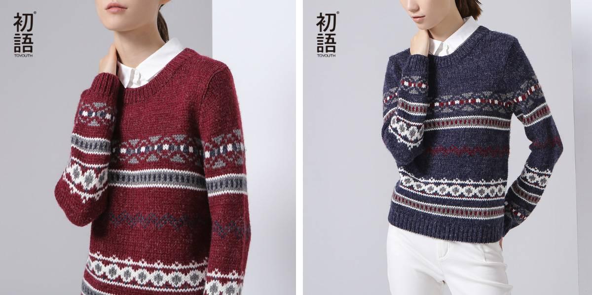 Воротник-обманка Женский свитер