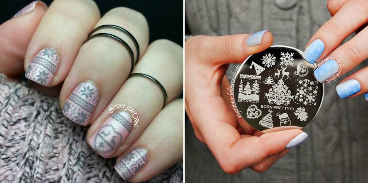 Стемпинг для ногтей Новый год
