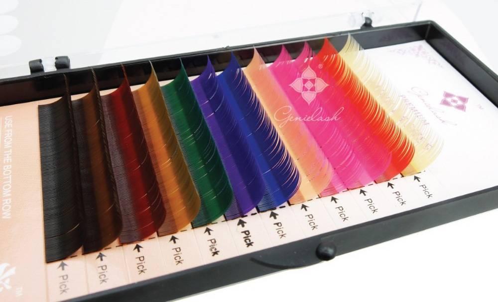 Цветные ресницы для наращивания