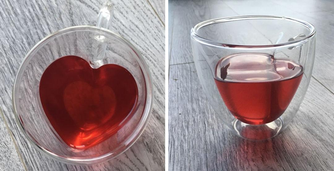 Чашка горячее сердце