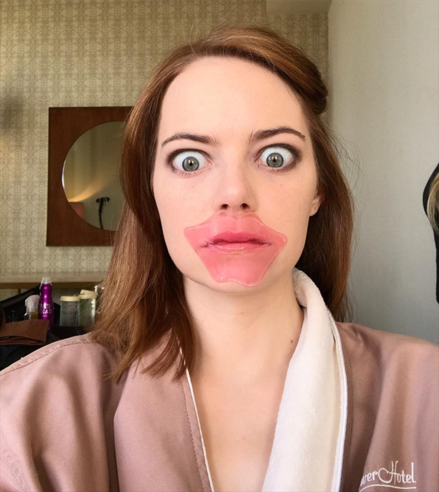 Патчи для губ Эмма стоун