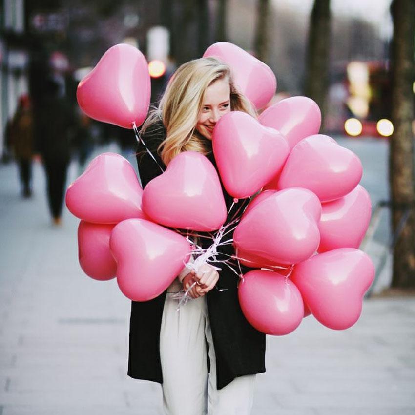Подарки на день святого Валентина шары в форме сердца