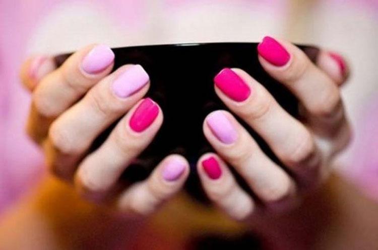 Дизайн ногтей двумя лаками