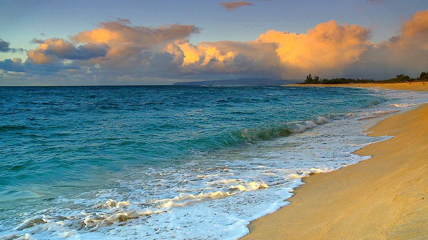 Лающий пляж Гавайи