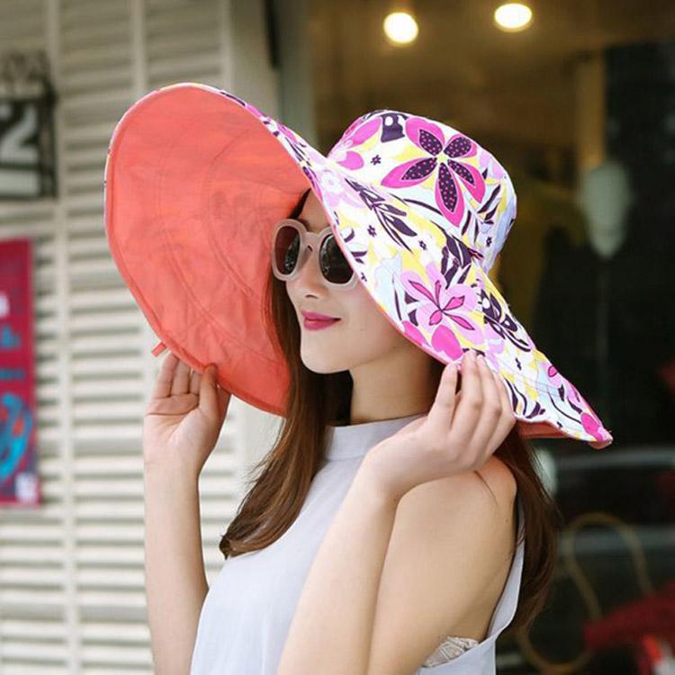 Пляжная шляпа с широкими полями