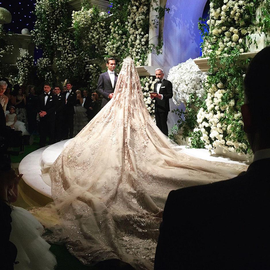Свадьба в Лос-Анджелесе платье невесты