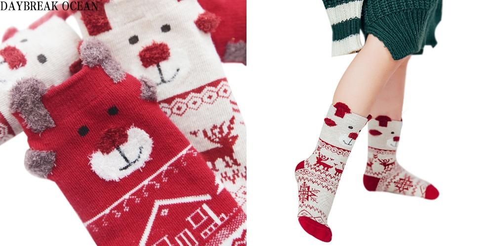 Детские носочки с оленями