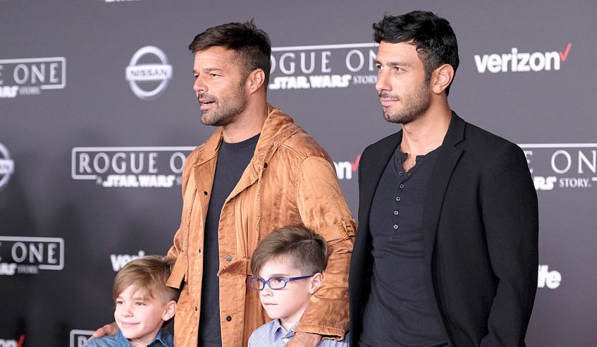 Рики Мартин и его дети
