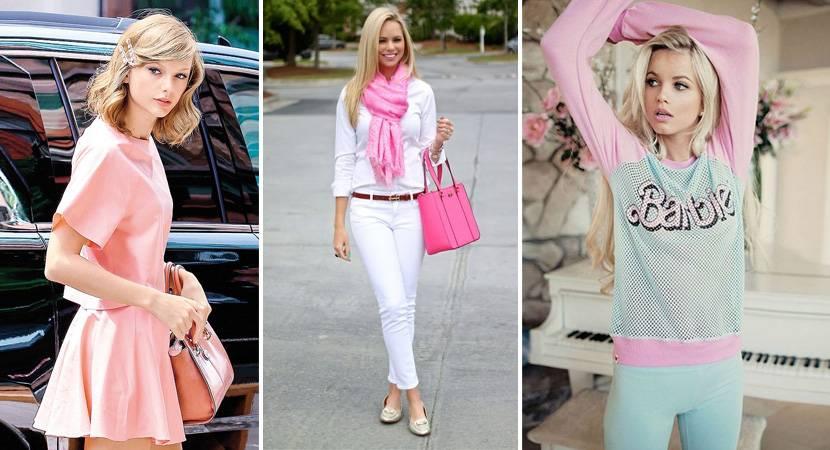 Модный образ стиль Барби