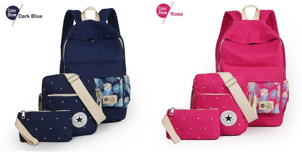 Школьный рюкзак для девочек 3в1