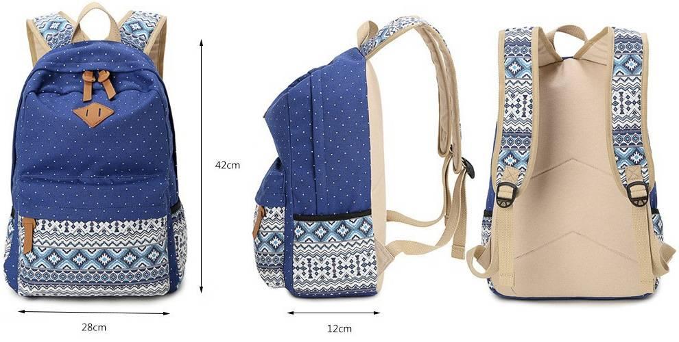 Школьный рюкзак для девочек арнамент