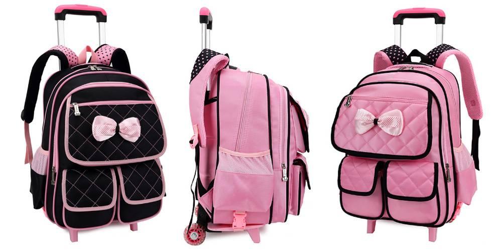 Школьный рюкзак для девочек на колесах