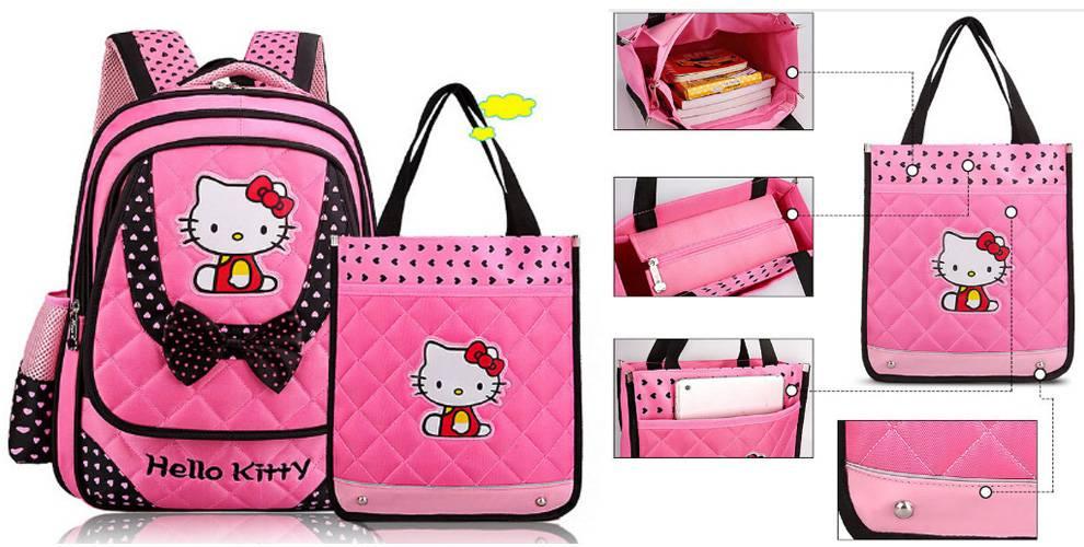 Школьный рюкзак и сумка hello kitty