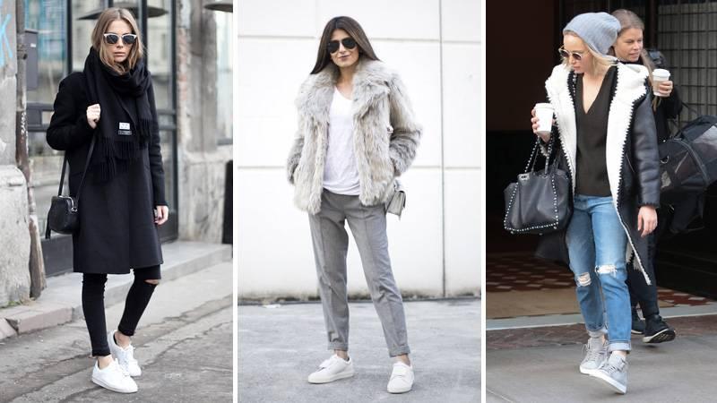 С чем носить спортивную обувь этой зимой