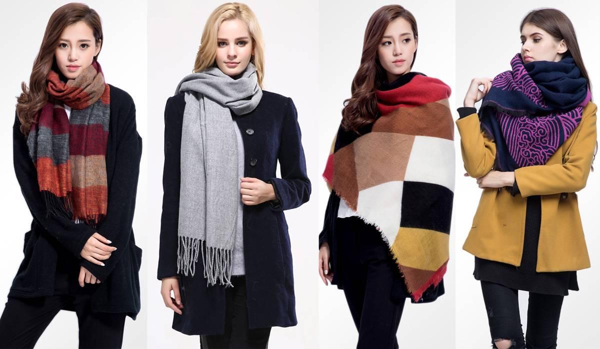 Теплые шарфы на Алиэкспресс