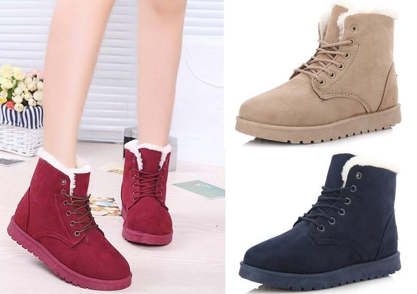 Женские ботинки Алиэкспресс