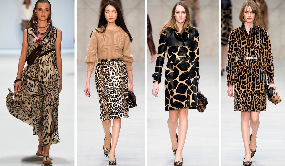 Леопардовый принт в одежде 2016-2017