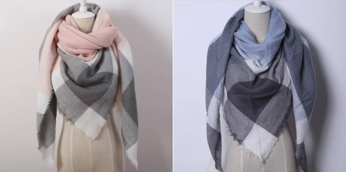 Кашемировый женский шарф