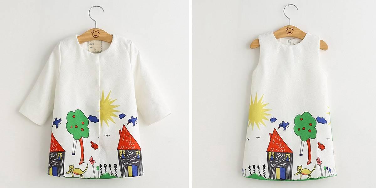 Пальто и платье для девочки