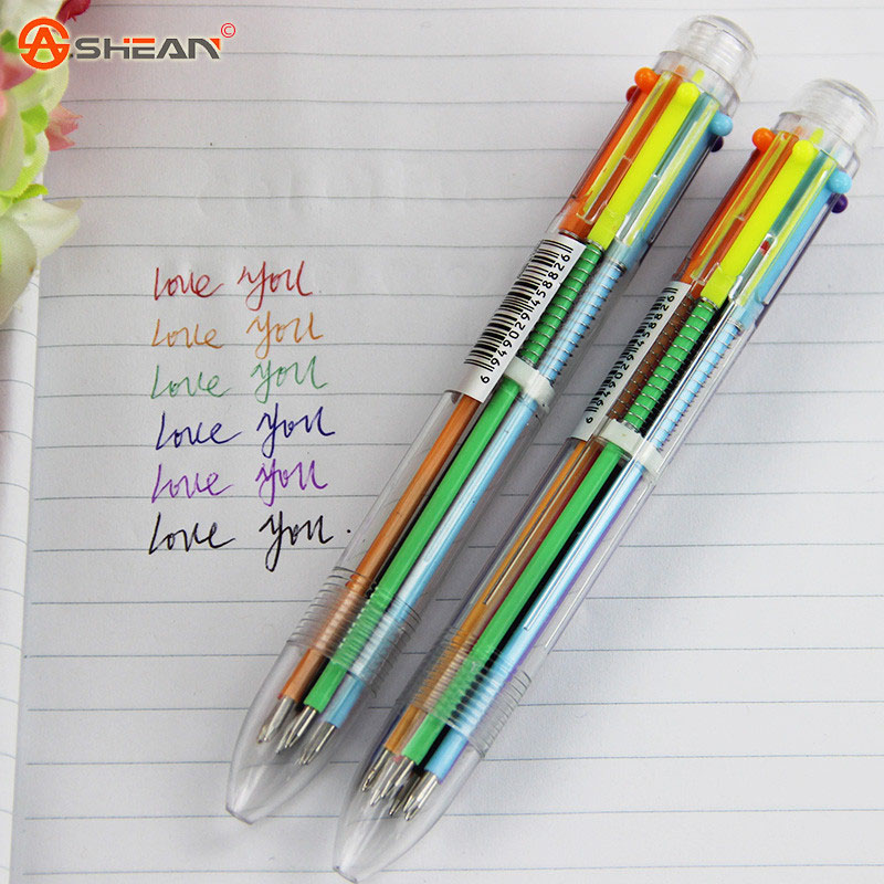 Шариковая ручка 6 в 1