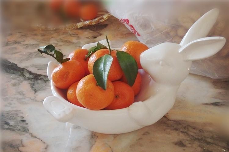 Керамическая тарелка для фруктов Зайка