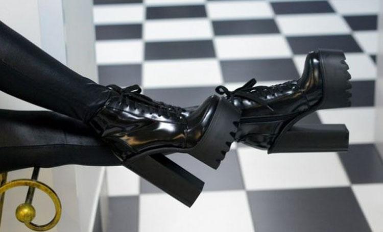 Обувь на тракторной подошве - ботильоны