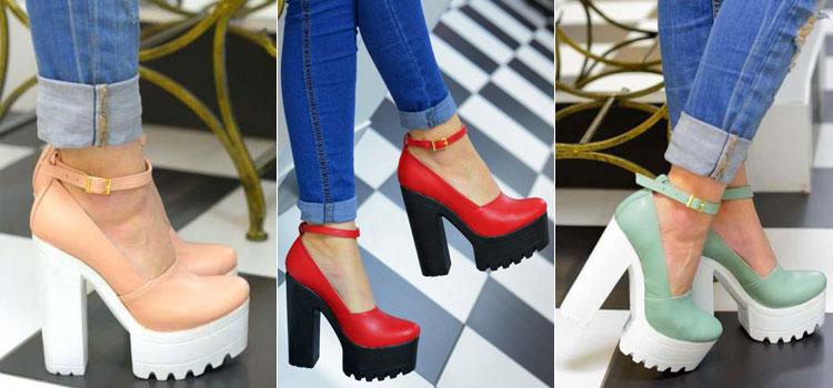 Обувь на тракторной подошве - туфли