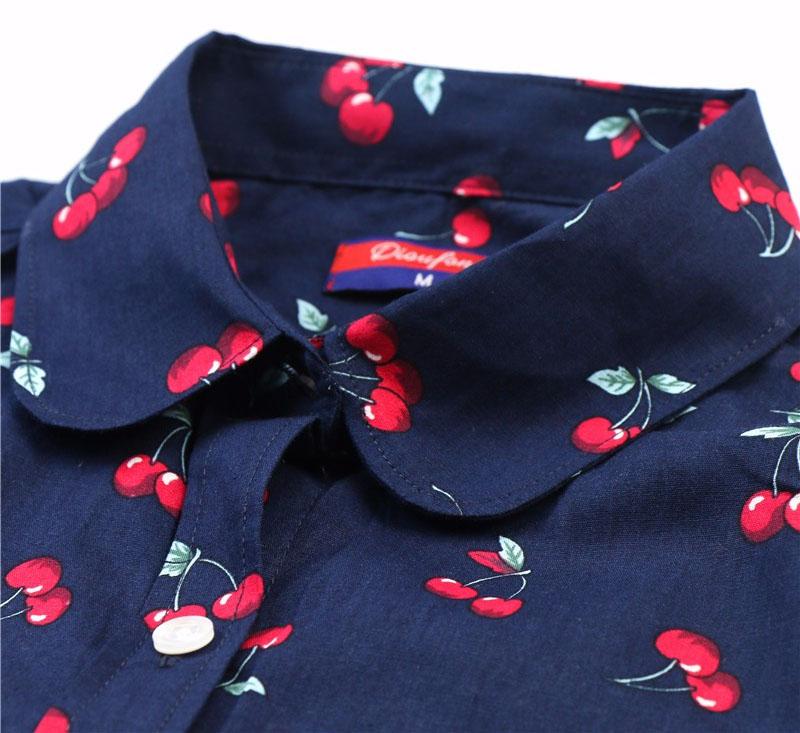 Рубашка с длинным рукавом Вишенка