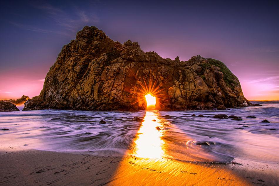 пляж Пфайффер Бич Калифорния