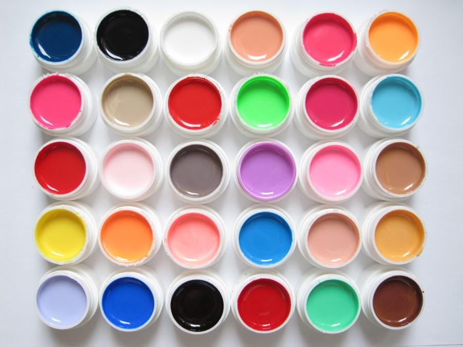 Цветные гели для наращивания ногтей