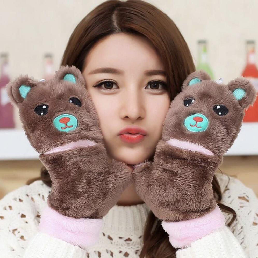 Варежки с медведями -1