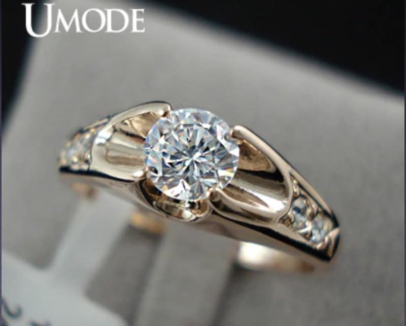 Кольцо с большим камнем Umode