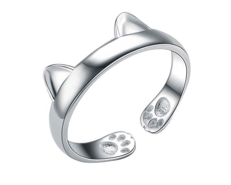 Кольцо с кошачьими ушками Umode