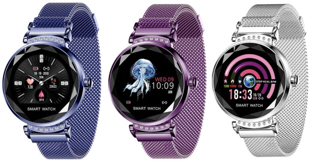 Женские смарт-часы с необычным дизайном.