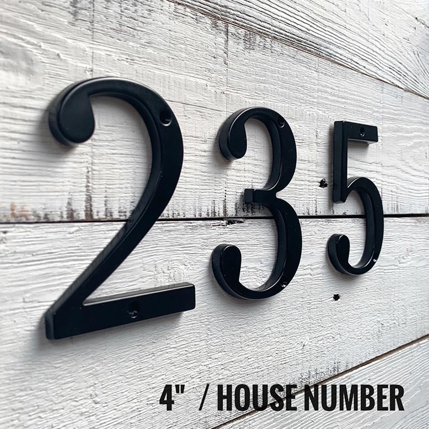Цифры номера для дома и квартиры