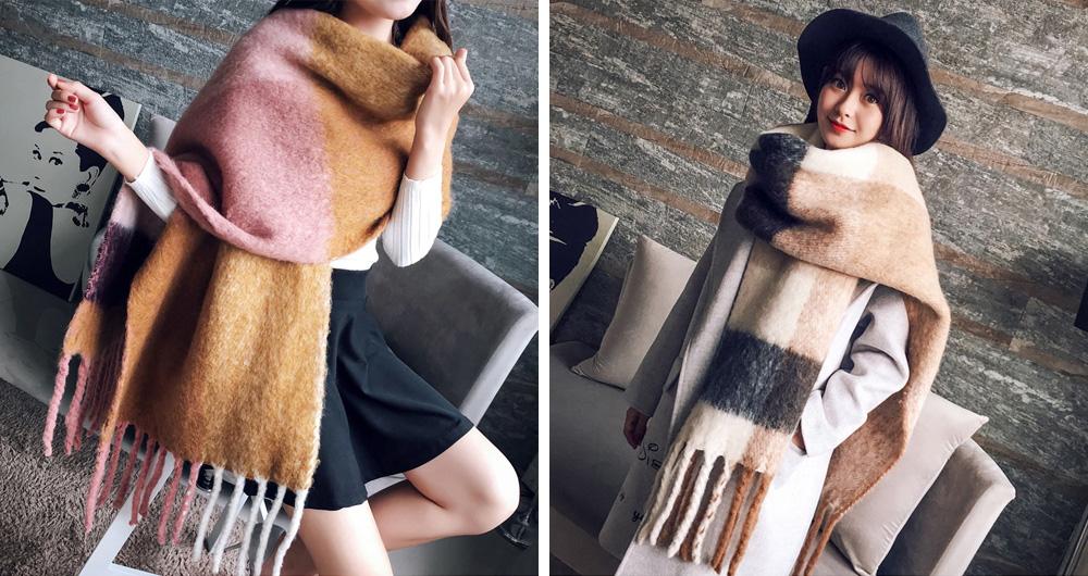 Женский теплый шарф Алиэкспресс
