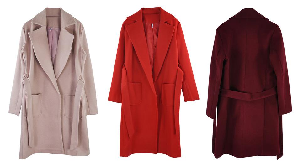 Женское осеннее пальто Алиэкспресс 1