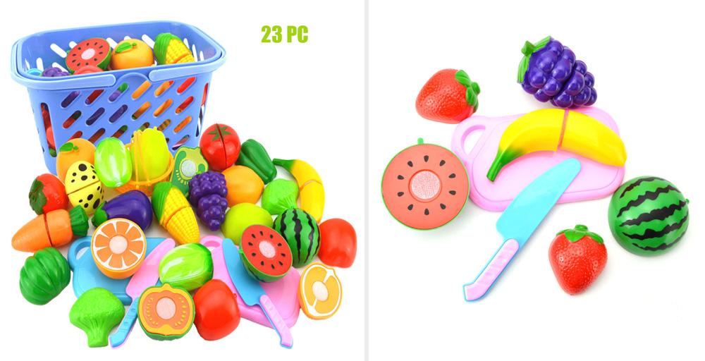 Пластиковые фрукты и овощи