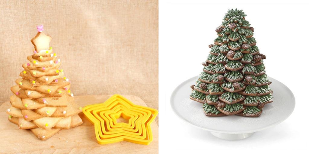 Формы для елки из печенья к Новому году