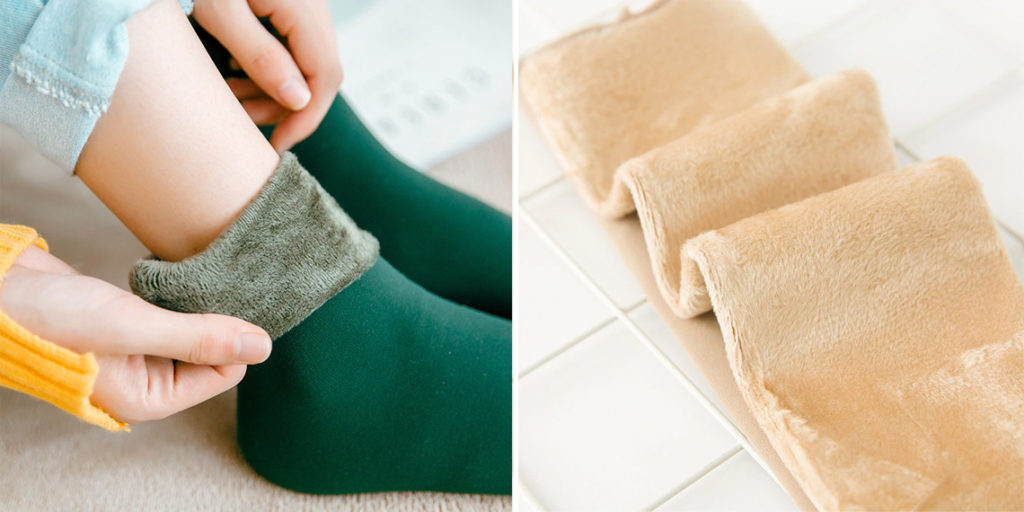 Женские носки на флисе
