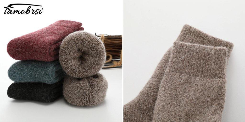 Женские теплые носки из мериносовой шерсти