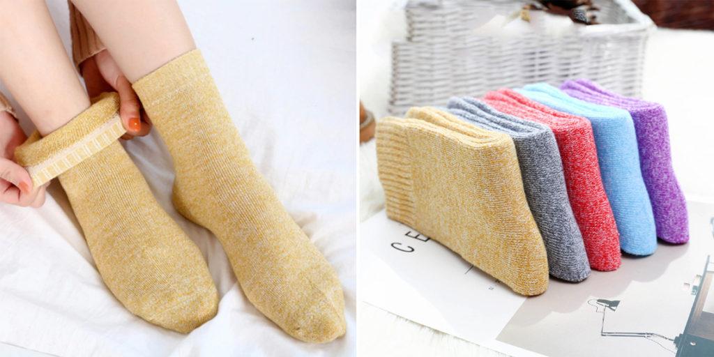 Женские теплые носки с кашемиром