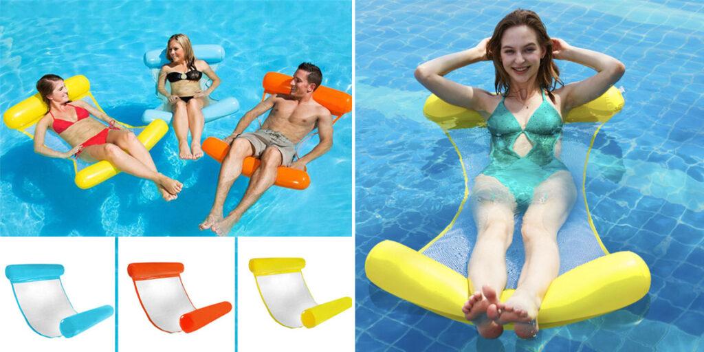 Надувной гамак для плавания