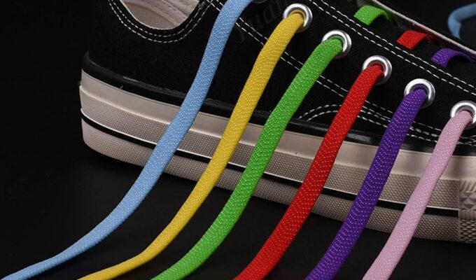 Шнурки цветные на магнитах