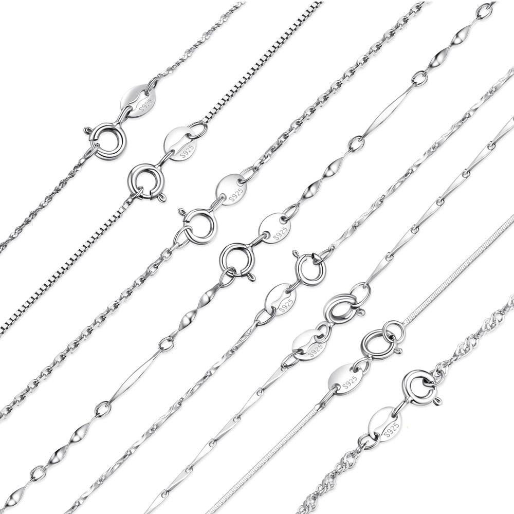 Серебряные цепочки с Алиэкспресс