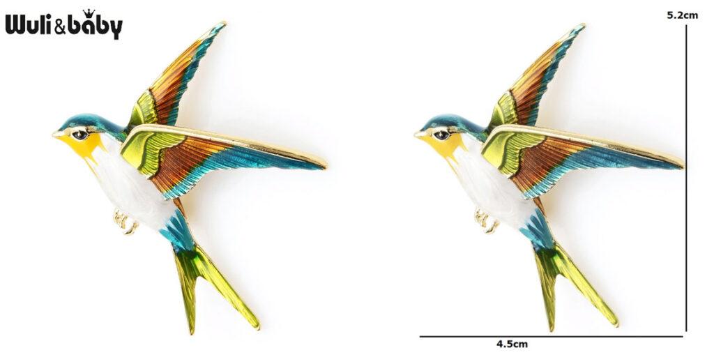 Брошка в виде птички