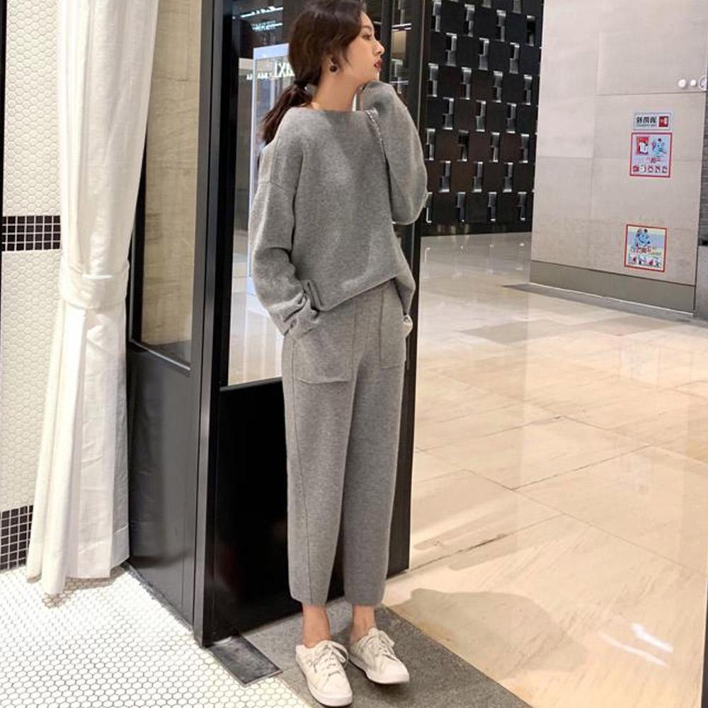 Кашемировый костюм серый