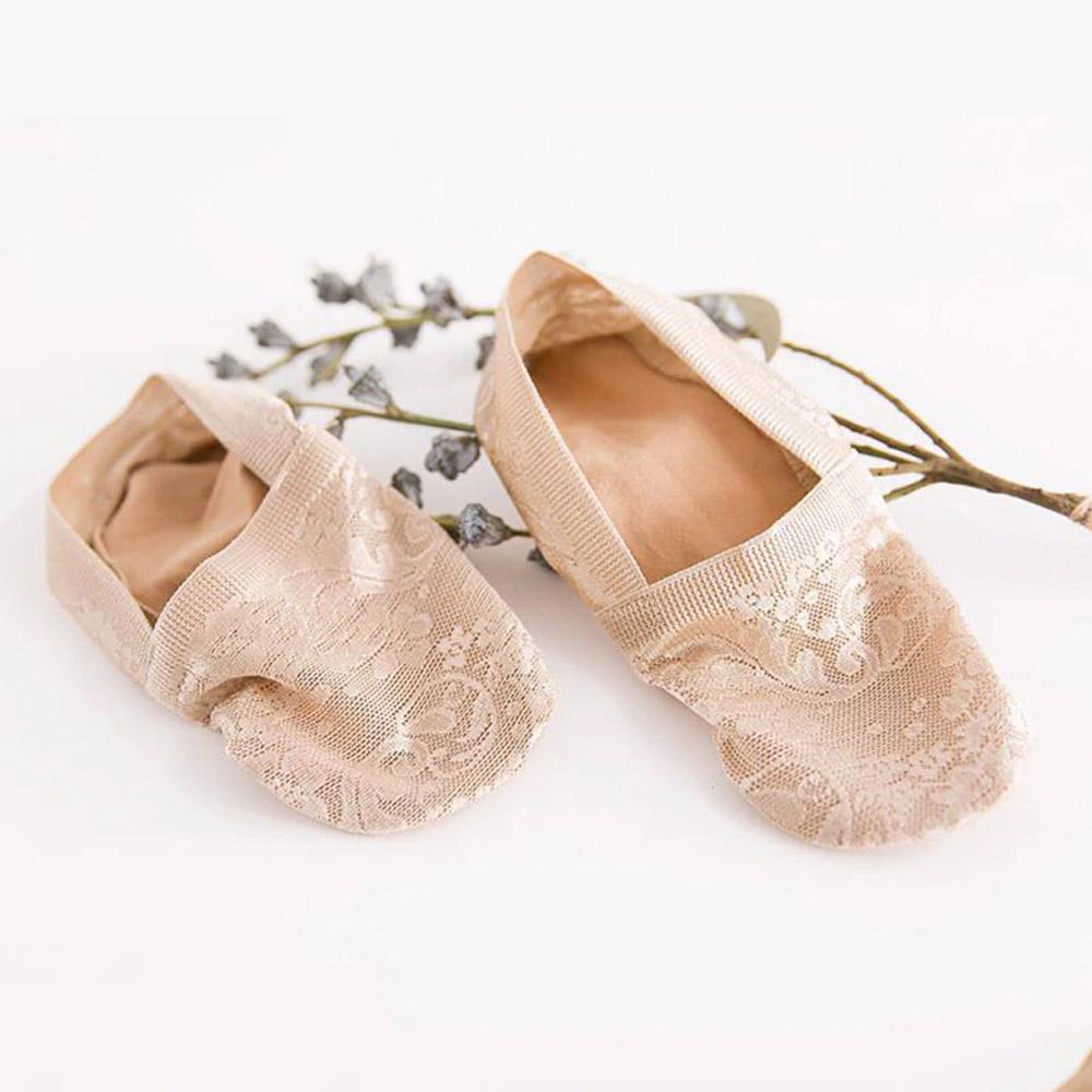 Носки-тапочки бежевые