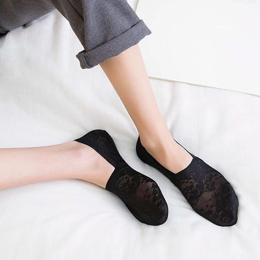 Носки-тапочки черные